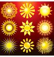 Decorative sun vector