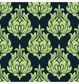 Blue and green vintage floral seamless pattern vector