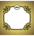 Queen frame gold vector
