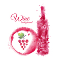 Artistic watercolor wine background vector