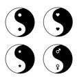 Set of ying yang symbols vector