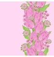 Tulips seamless flowers pattern vector