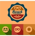 Beach vacation labels vector