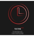 Watch flat modern web button and space for your vector