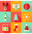 9 christmas flat icons set 4 vector