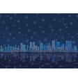 Night city landscape with snowflakes seamless vector