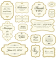 Vintage stickers vector
