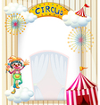 A clown in the circus vector