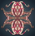 Abstract hand drawn grunge lace ornament vector