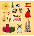 Tour of spain hand-drawn vector