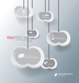 Cloud for abstract business infographic background vector