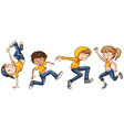 A group of dancers vector