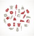Hawaii icons vector