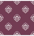 Purple and beige seamless floral pattern vector