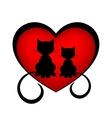 Black cats in love vector
