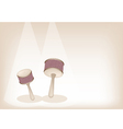 Two beautiful cabasa on brown stage background vector