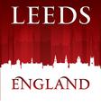 Leeds england city skyline silhouette vector
