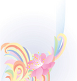 Abstract pastel flower vector