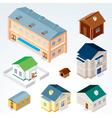 Isometric houses vector