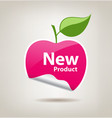 Sticker pink apple price tag vector