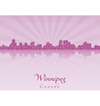 Winnipeg skyline in purple radiant orchid vector