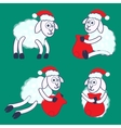 New years sheeps vector