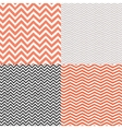 Geometric chevron seamless patterns set hand drawn vector