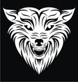 White wolf face vector