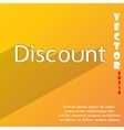 Discount icon symbol flat modern web design with vector