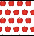 Red apple repeatable seamless pattern vector