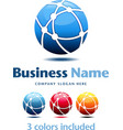 Business technology logo 3 colors vector