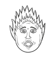Panic face vector