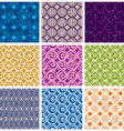 Seamless geometric patterns 2 vector