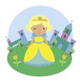 Blonde princess character vector