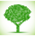 Green pixel tree vector