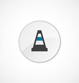 Construction cone icon 2 colored vector