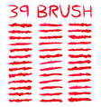 Red brushes vector