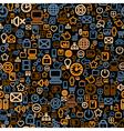 Seamless technology pattern vector