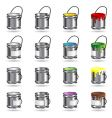 Paint buckets vector