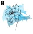 Poppy design floral background vector