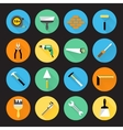 Builder instruments icons vector