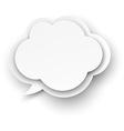Paper white cloud bubble vector