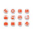 Office equipment buttons vector