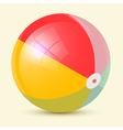 Colorful retro beach ball vector