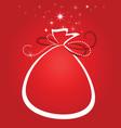 Christmas gift sack vector