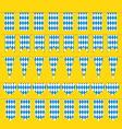 Bunting for oktoberfest bavarian flag pattern vector