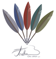 Feather fantail vector