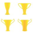 Champion golden trophies vector