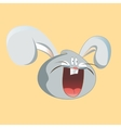 Funny hare head screaming cartoon design vector