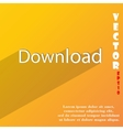 Download now icon symbol flat modern web design vector